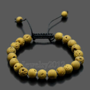 New Couples Men Women Beads Turquoise Howlite Agate Macrame Braided Bracelets