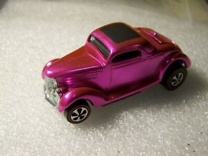 """hot wheels redline""""CLASSIC 36 FORD COUPE""""HOT PINK,MINTY!!!!!,LOOK!!1968"""
