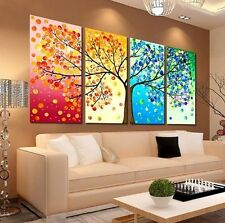 Modern Abstract Oil Painting Wall Decor Art Huge - Landscape Four seasons tree