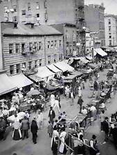 Jewish market east side new york vintage old bw photo print poster art 1108BW