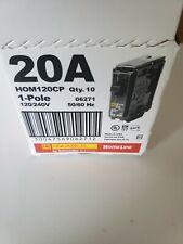 Square D Hom120Cp 20 Amp Miniature Circuit Breaker (Case of 10)