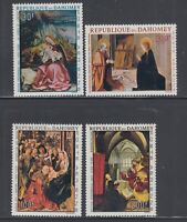 Dahomey 1967 Christmas Paintings Sc C63-C66  mint very lightly hinged
