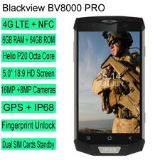 4G Unlocked Smartphone Blackview BV8000 Pro  Android 6GB+64GB NFC Octa Core New