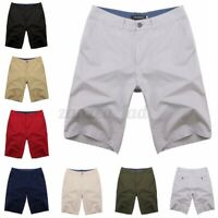 Summer Men's 100% Cotton Cargo Shorts Casual Formal Workwear Loose Fit Trousers