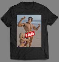 OLDSKOOL ARNOLD SCHWARZENEGGER SWAG GYM QUALITY CUSTOM ART* Shirt *MANY OPTIONS*