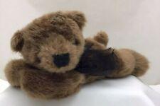 "Brown Teddy Bear Black Bow Nose Soft Casey Progressive Plush 10"" Lovey Toy"