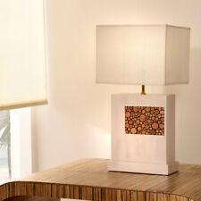 TISCHLAMPE AST WEIß TISCHLEUCHTE NACHTTISCHLAMPE LEUCHTE LAMPE HOLZ DESIGN HELL