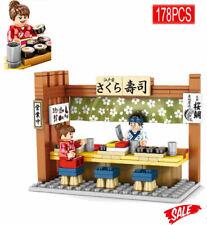 Diy City Street Japanese Pub Shop Store Figure Toy Building Blocks Brick Sembo
