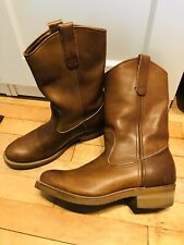 Red Wing Mens Pecos Cowboy Western Work Boots Brown 7D Pull On  USA