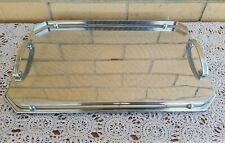 Vintage art deco Ranleigh large polished silver drinks serving cocktail tray