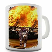 Twisted Envy Cat On Fire Ceramic Tea Mug