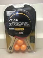 NEW STIGA PERFORMANCE 2 PLAYER SET Ping Pong Paddles Table Tennis Racket