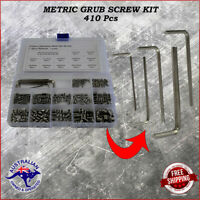 410 pc Stainless Steel Metric Grub Set Screw Assortment kit 3 - 8mm 12 sizes.