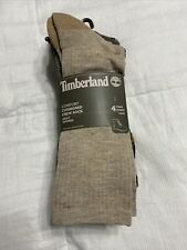 Timberland Men's 4 Pack Outdoor Leisure Crew Cushioned Stretch Support Socks NWT