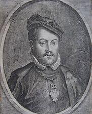 LUDOVICUS REQUESENIUS MAGNUS CASTELLE, Portrait, gravure 17 ème. Dimensions : 90