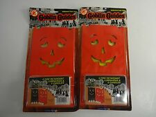 1995 -  2 pack 12 Halloween Luminary Bags w/ Tealights - PARTY PATH LIGHTS DECOR