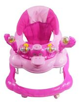 Baby Walker Push Along Pink Duck First Steps Activity Musical Ride On Toys New