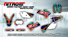 KTM Graphics Kit Decal Design Stickers EXC EXC-F 125 250 300 450 525 2005-2007