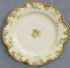 Haviland Schleiger 33 Lunch Salad Plate White Rose Blossom & Rose Hip Gold Trim