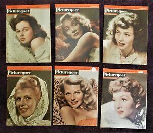 PICTUREGOER MOVIE MAGAZINES/FLYERS (1946 - 1949) - HAYWORTH, DIETRICH x 6