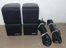 BOSE DOUBLE CUBE REDLINE SPEAKERS BLACK PAIR ACOUSTIMASS