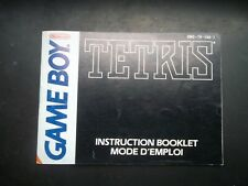 Notice Game boy / Gb Tetris couverture noire  fah original Booklet * Nintendo
