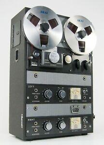 AKAI ROBERTS 990 VACUUM TUBE REEL TO REEL TAPE DECK AMP SPEAKERS SERVICED * NICE
