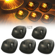 Fit 94-98 Dodge Ram Br/Be 5Pcs Smoked Housing Yellow Led Cab Roof Running Light