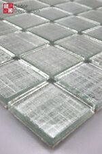 Mosaico de Cristal Azulejos mosaikglas vidrio plata LINE
