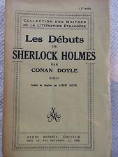 LES DEBUTS DE SHERLOCK HOLMES CONAN DOYLE EDT 1941
