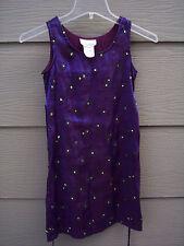Bonnie Jean Dress Sz 8 Girls Violet Silver Sparkle Floral Sleeveless Party Shift