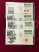 FDC by Mrs Jones (4) Vietnam Memorial First Day of Issue Covers AB-159