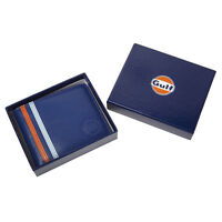 AUTHENTIC GULF LEATHER WALLET  - FREE UK SHIP - LE MANS - OFFICIAL MERCHANDISE