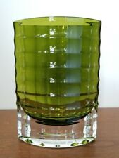 """Studio Crafted Emerald Green Glass Art Multi-Faceted Vase 8"""""""