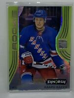 2019-20 Upper Deck Synergy Kaapo Kakko RC SP Green Tier 3 #89/99 Rangers Rookie