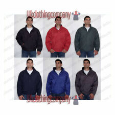 Polyester Zip Neck Quilted Coats & Jackets for Men