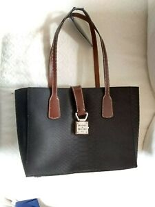 Dooney & Bourke Small Shannon Tote Charcoal Python/Croc with Dust Bag $298 NWT