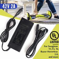 42V 2A Lithium Battery Charger for Razor Hovertrax 2.0 Swagway X1 Swagtron T1 T3