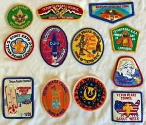 Lot of Boy Scout Patches Idaho Wyoming Tetons