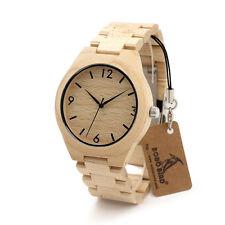 BOBO BIRD H01 Anniversary Series of Wooden Watches Maple Wood Quartz Watch
