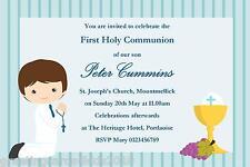10 Personalised Communion Invitations Boy New Design 7