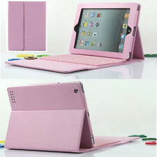 For iPad 3rd 4th 2nd Stand Leather Case Cover With Bluetooth Keyboard