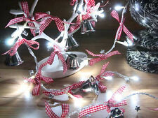 Silver Jingle Bell Cool White LED String Lights, Christmas Lights, Party Lights