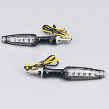 2x 5 LED Motorcycle Bike Turn Signal Indicators Light Universal 12V Metal Casing