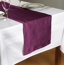 """Plain Pleated Purple Table Runner 90"""" x 12""""  (180cms x 30cms)"""