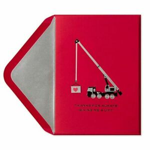 Papyrus Father's Day card - 3D Red Crane - Thanks for Always Giving Me a Lift