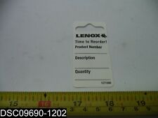 "Qty=152: 1271080 Lenox Hang Tags 3"" X 1-1/2"""