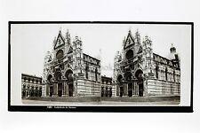 Sienne Siena Italie Italia Ferrier Vintage Plaque stéréo ca 1860