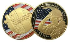 US Cimetiere Americain Memorial WW2 D-Day Omaha Beach Gold Plated Coin