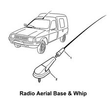 Vauxhall Vivaro Movano Aerial Whip & Base Antenna Genuine NEW